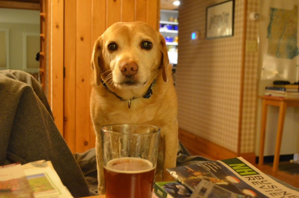 Darla with beer 1